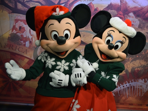 Walt Disney World, Animal Kingdom, Christmas 2013, Mickey and Minnie, Meet and Greet