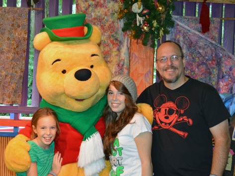 Walt Disney World, Animal Kingdom, Christmas 2013, Meet and Greet, Winnie the Pooh