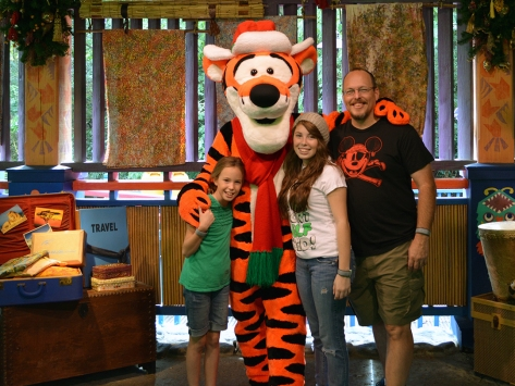 Walt Disney World, Animal Kingdom, Christmas 2013, Meet and Greet, Tigger