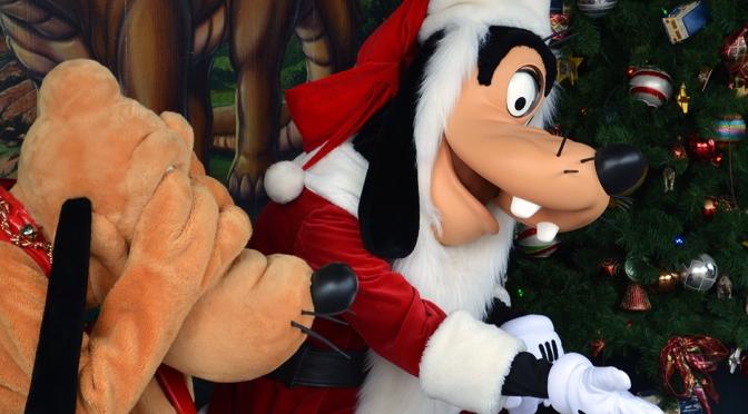 Walt Disney World, Animal Kingdom, Christmas 2013, Meet and Greet, Goofy and Pluto
