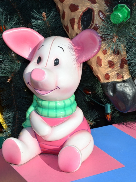 Walt Disney World, Animal Kingdom, Christmas 2013, Christmas Tree, Piglet