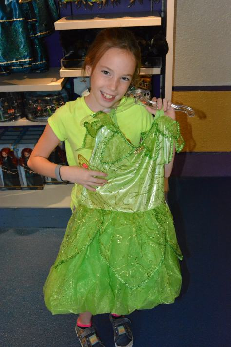 Tinker Bell dress.  I must have accidentally deleted the gear photo.  Sorry