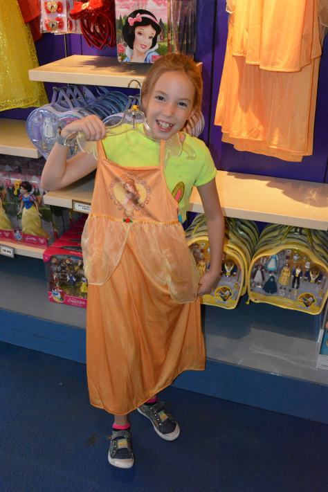 Belle also didn't have a formal dress available on this day.