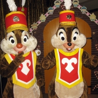 Contemporary Resort Christmas Characters Band Members Chip n Dale