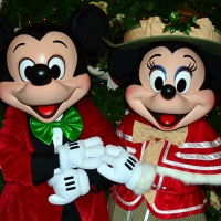 Grand Floridian Resort Christmas Characters Mickey and Minnie and Christmas Decor