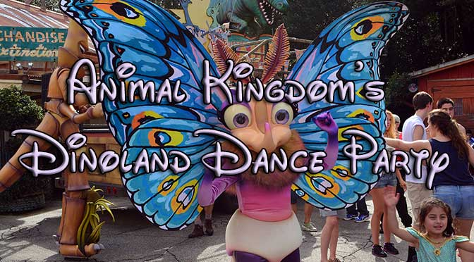 Animal Kingdom's new Dinoland Dance Party with photos, video and high quality commentary!