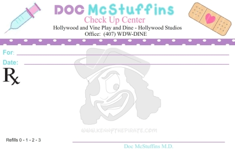 Doc McStuffins prescription, kenny the pirate