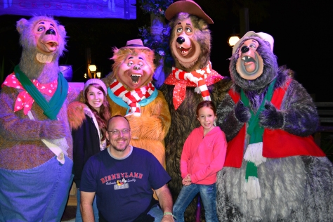 Country Bears at Mickey's Very Merry Christmas Party, Wendell, Shaker, Big Al, Liverlips