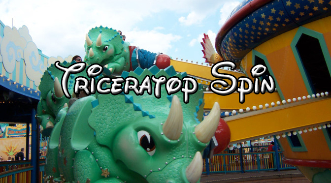 triceratop spin at disney's animal kingdom