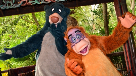 Walt Disney World, Animal Kingdom,  Character Changes,  January 2014, Baloo and King Louie