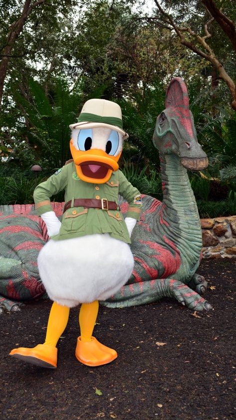 Walt Disney World, Animal Kingdom,  Character Changes,  January 2014, Donald Duck, Cretaceous Trail