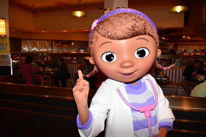 Doc McStuffins and Sofia the First join Hollywood and Vine Play and Dine character meal at Hollywood Studios