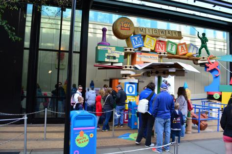 Walt Disney World, Hollywood Studios, Toy Story Midway Mania wait time