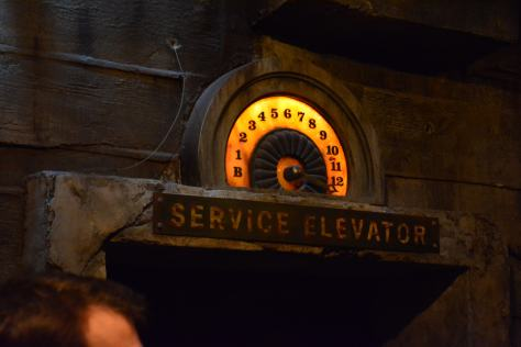 Walt Disney World, Hollywood Studios, Tower of Terror, Service Elevator