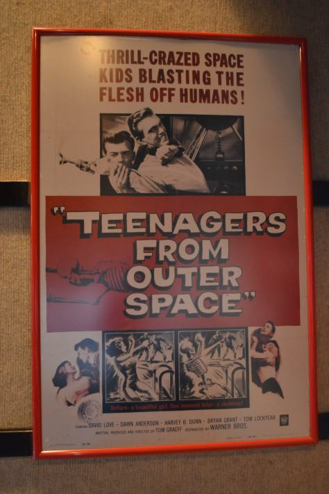 Walt Disney World, Hollywood Studios, Sci Fi Dine In Theater, Teenagers from outer space poster