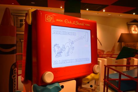 Walt Disney World, Hollywood Studios, Toy Story Midway Mania, Etch o Sketch