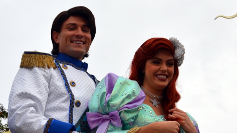Walt Disney World, Magic Kingdom, Celebrate a Dream Come True Parade, Prince Eric, Ariel