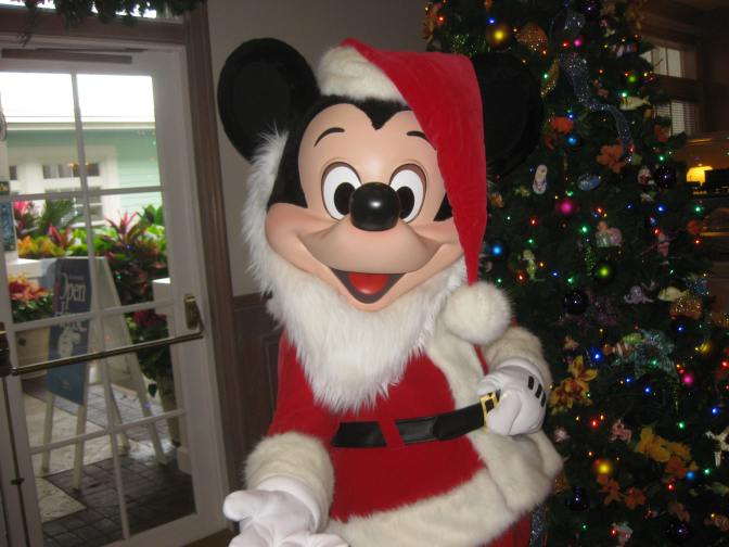 Santa Mickey at Old Key West Resort during Christmas week