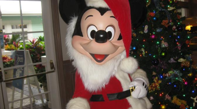 Santa Mickey at Old Key West Resort during Christmas week