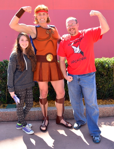 Walt Disney World, Epcot, Characters, Meet and Greet, Hercules, Epcot Character Traiining