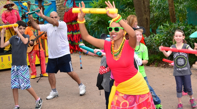 Viva Gaia Street Party at Discovery Island in Animal Kingdom