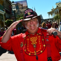 Meeting some Main Street Citizens at the Magic Kingdom in Walt Disney World