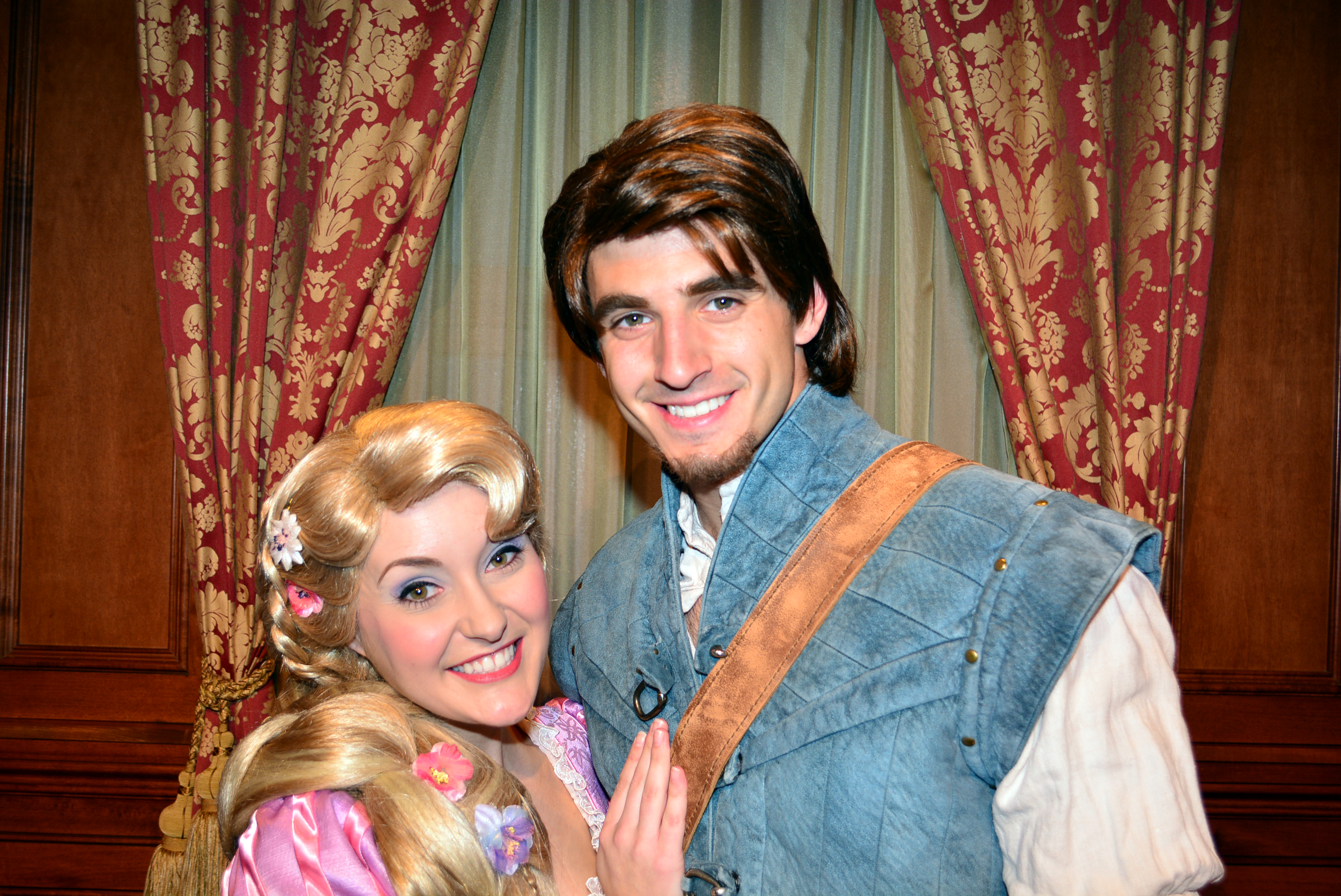 Walt Disney World Magic Kingdom Rapunzel and Flynn Rider Valentines    Flynn Rider Disney World 2013