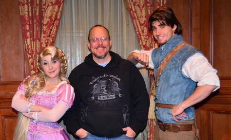 Walt Disney World, Magic Kingdom, Characters, Valentines Day, Rapunzel and Flynn Rider