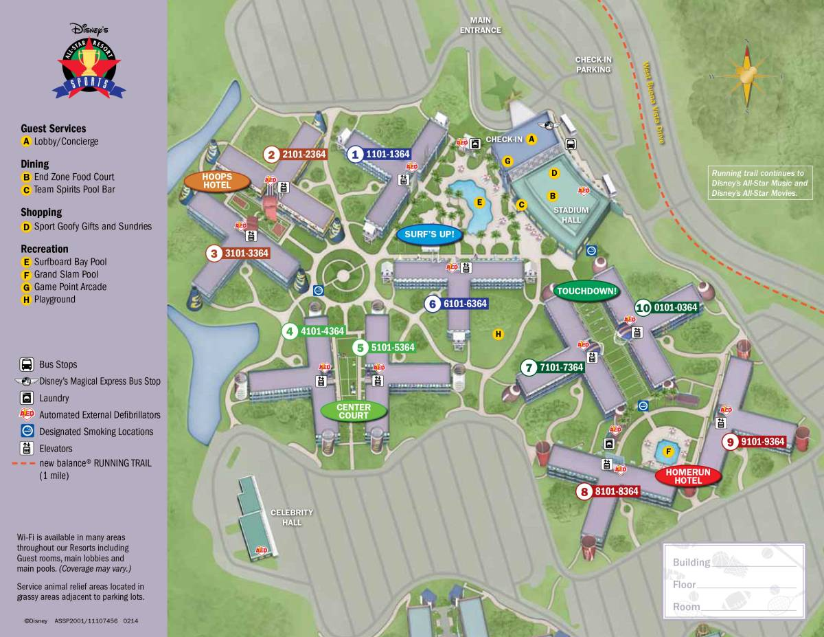 All Star Sports Resort Map