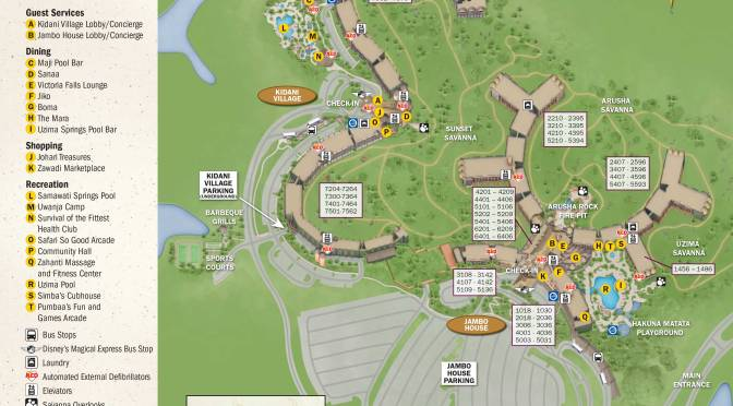 Animal Kingdom Lodge Kidani Village Resort Map | KennythePirate\'s ...