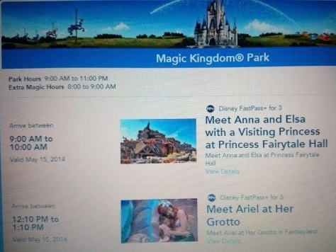 Walt Disney World, Magic Kingdom, Fairytale Hall, Anna and Elsa, Fastpass+