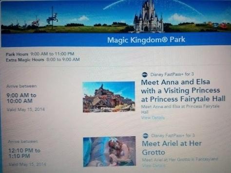 Walt Disney World, Magic Kingdom, Fairytale Hall, Anna and Elsa, Fastpass+
