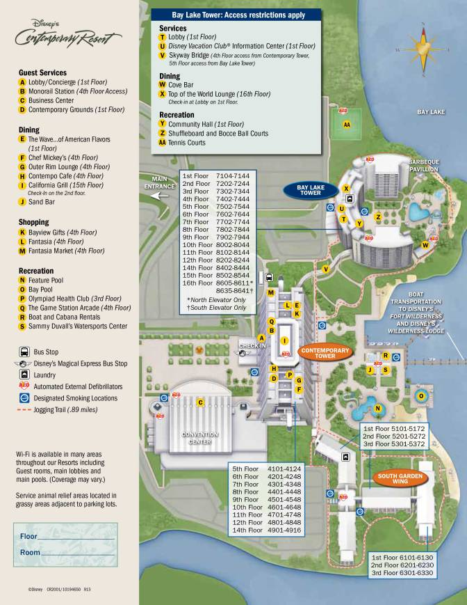 Contemporary Resort Map