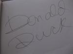 Donald Duck Autograph