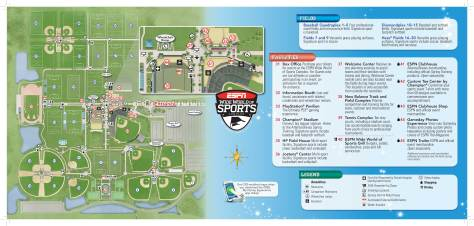 ESPN Wide World of Sports Map Walt Disney World