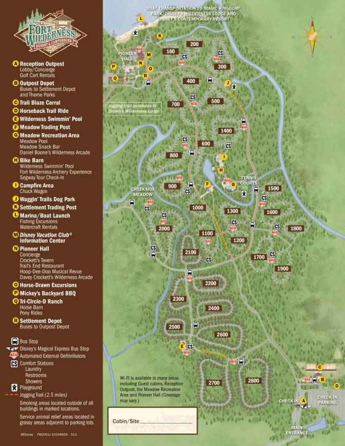 Fort Wilderness Resort Map