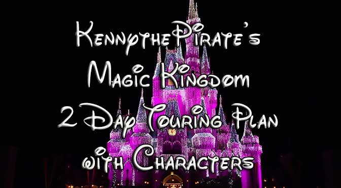 disney world magic kingdom touring plan with characters