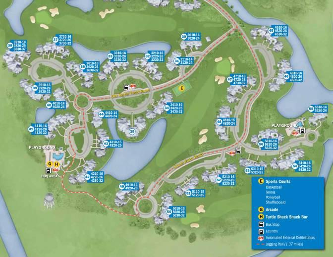 Old Key West Resort Map