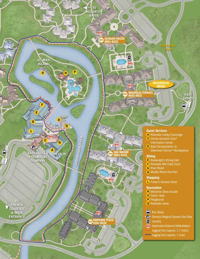 Port Orleans French Quarter Resort Map