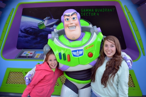 We met Buzz Lightyear at his regular meet in Tomorrowland.  We entered the line right before it closed around 2:00pm and waited about 20 minutes.  Debbie showed him Jessie's autograph and he was rather excited.