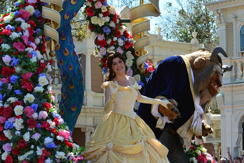 Walt Disney World  Magic Kingdom  Festival of Fantasy Parade  Belle    Disney World Belle 2014
