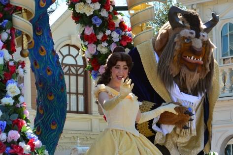 Walt Disney World, Magic Kingdom, Festival of Fantasy Parade, Belle and Beast