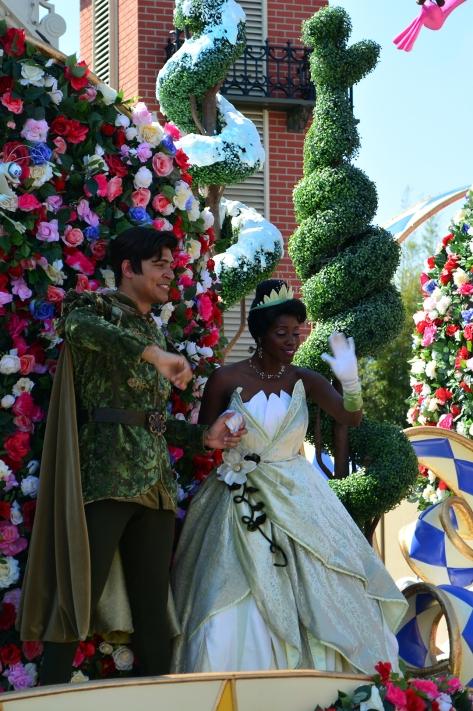 Walt Disney World, Magic Kingdom, Festival of Fantasy Parade, Tiana and Naveen