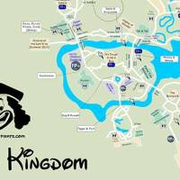KennythePirate's Animal Kingdom Map including Fastpass Plus locations