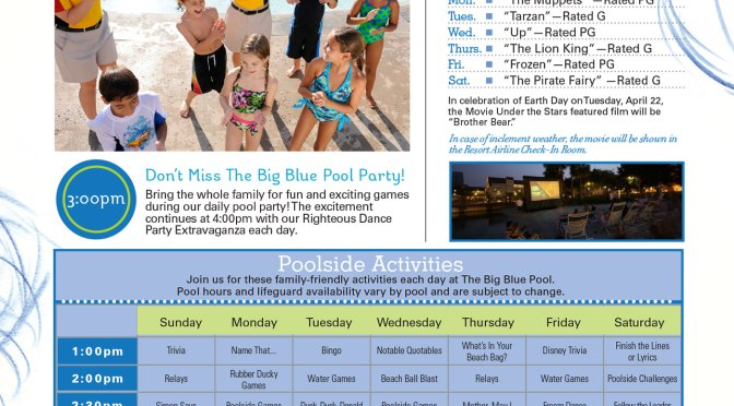 Art of Animation Resort Recreation Activity Guide