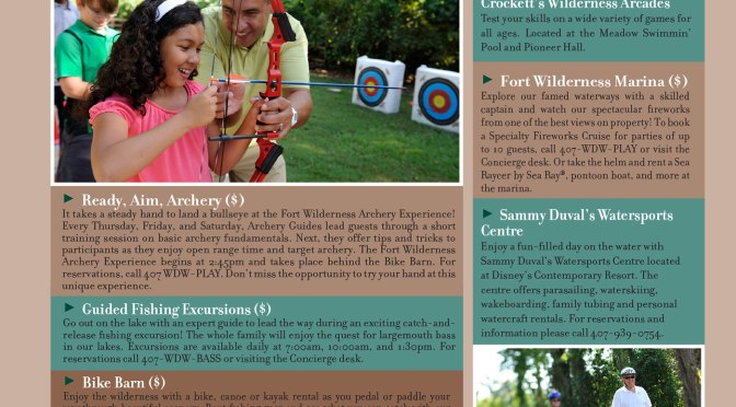 Fort Wilderness Resort Recreation Activity Guide