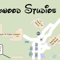 KennythePirate's Hollywood Studios Map including Fastpass plus locations, rides, shows, characters, dining and shopping