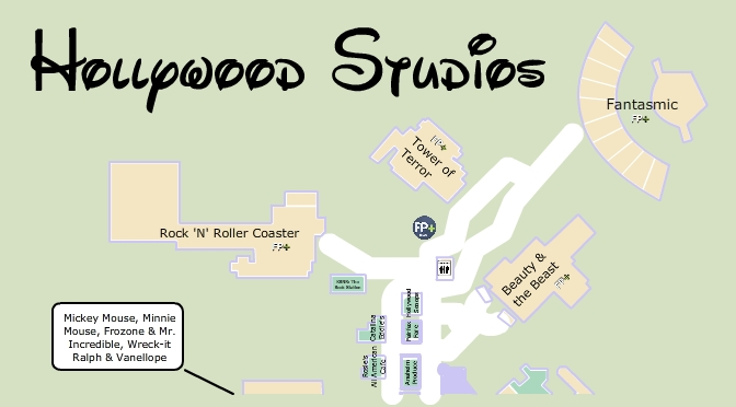 Best Hollywood Studios Map, KennythePirate map
