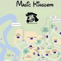 Magic Kingdom Character Location Map