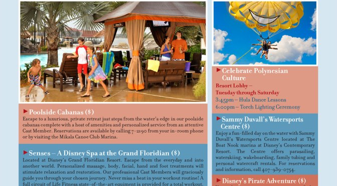 Polynesian Resort Recreation Activity Guide